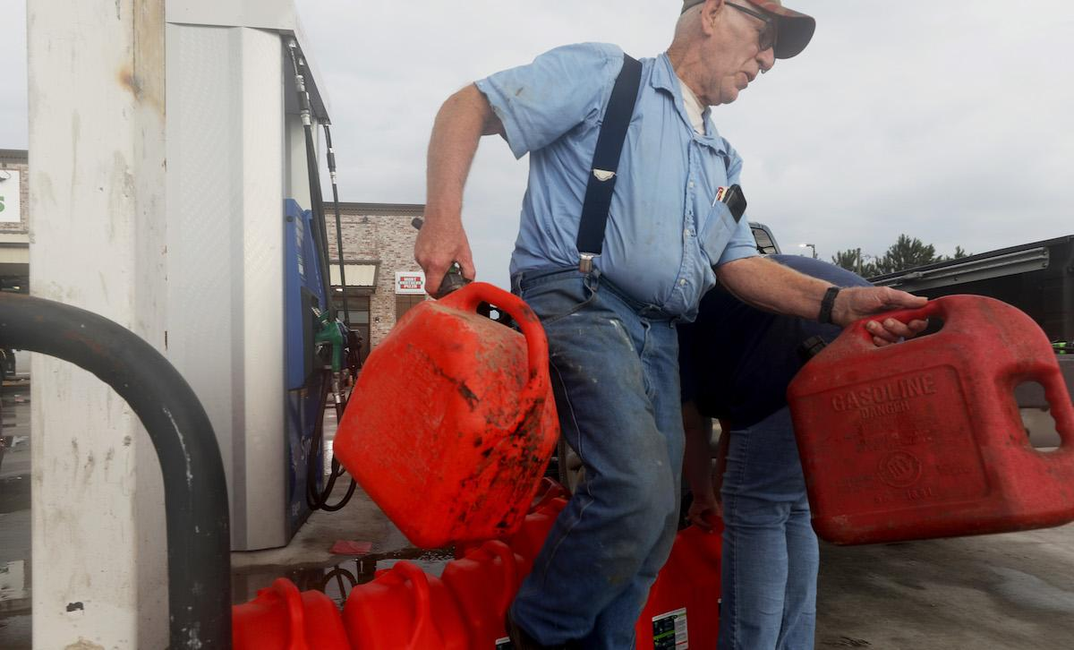 Americans hoarding gasoline