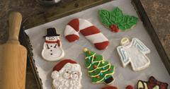 素食主义者圣诞饼干