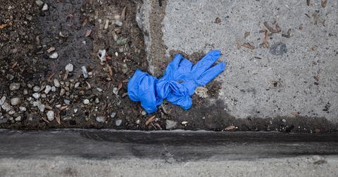 gloves litter covid
