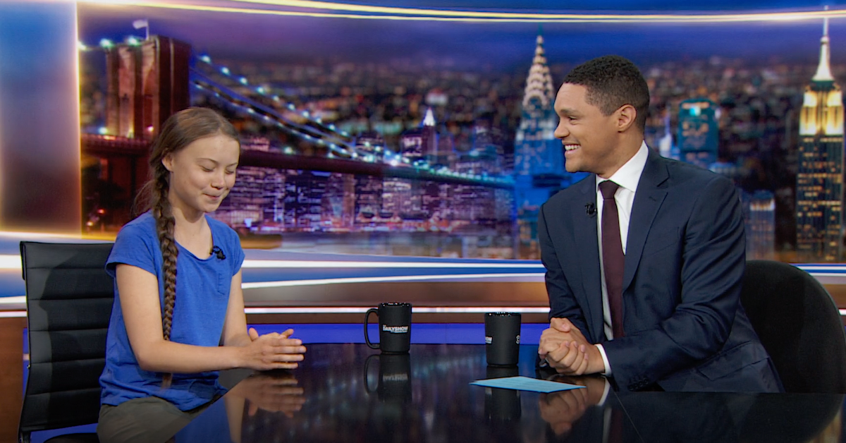"Greta Thunberg Tells Trevor Noah What She Thinks of the U.S.'s Attitude on Climate Change: ""Where I Come From, It's a Fact"""