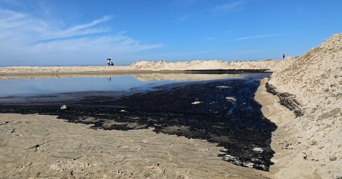 California oil spill location newport beach