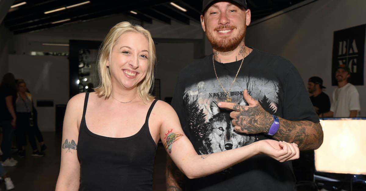 Bang Bang with the winner of Lightlife's sweepstakes, to get a free hot dog tattoo.