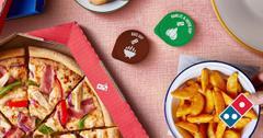 素食主义者多米诺骨牌披萨