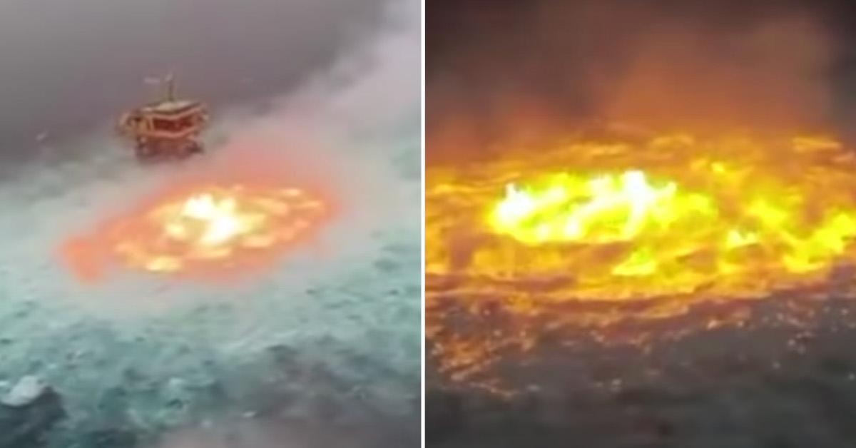 Gulf of Mexico Ocean Fire