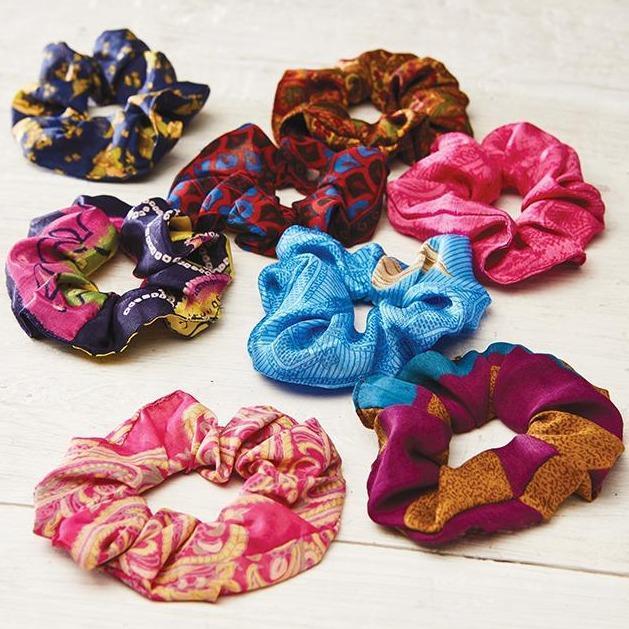 sari scrunchies