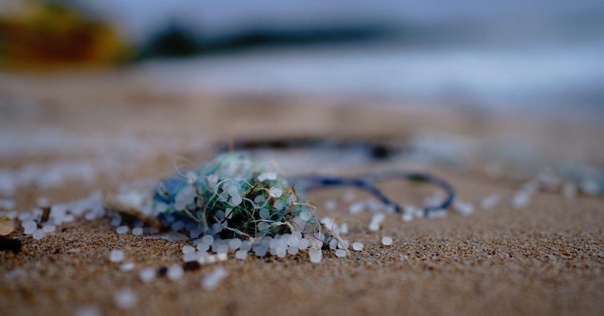 Microplastic on the beach