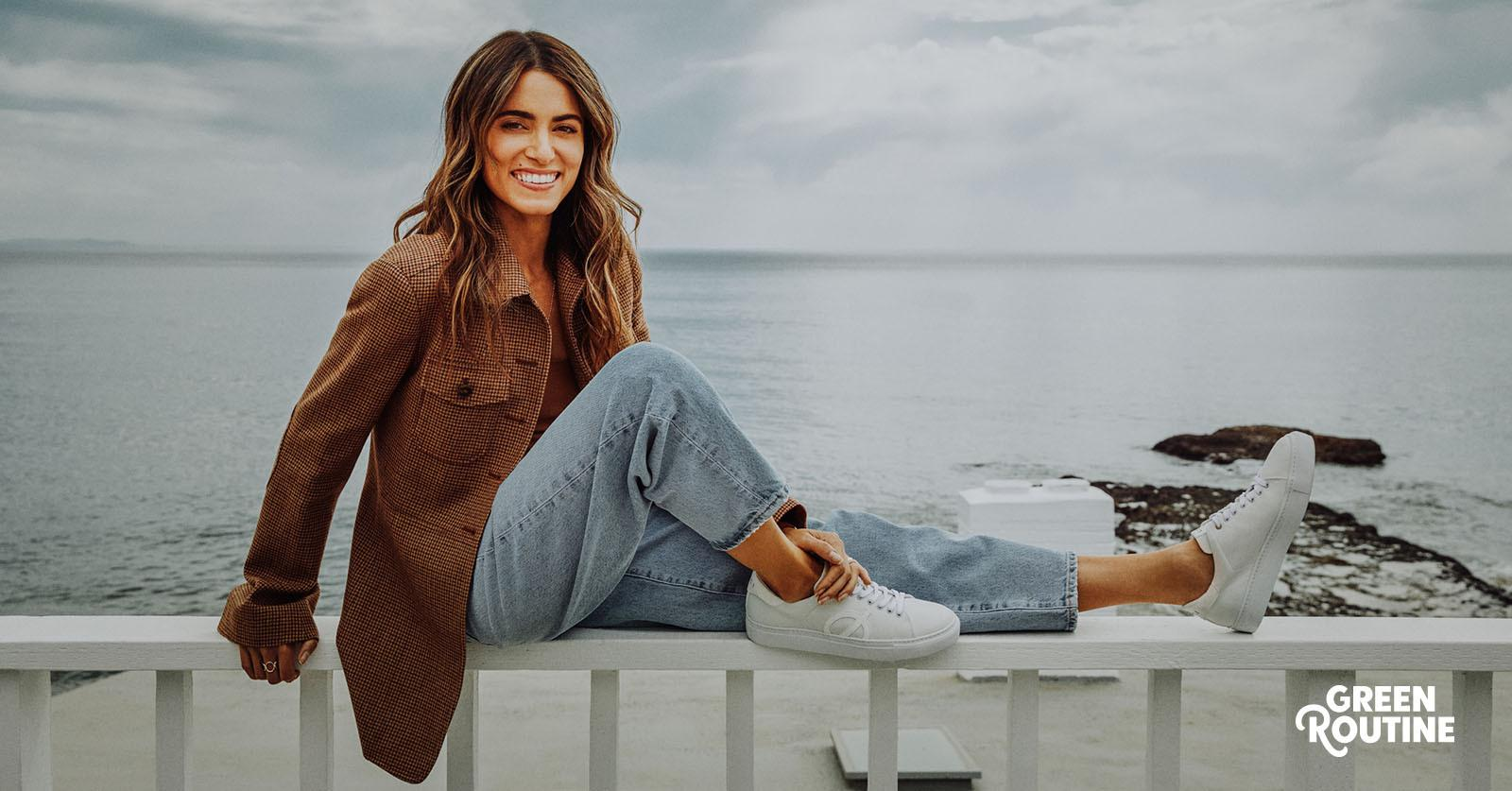 Nikki Reed with her sustainable Loci shoes